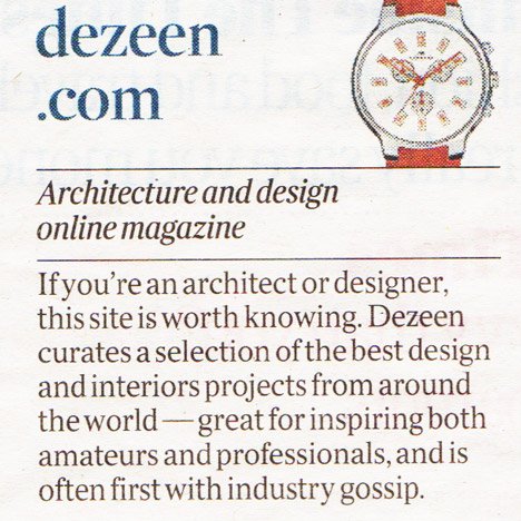 Dezeen in The Times