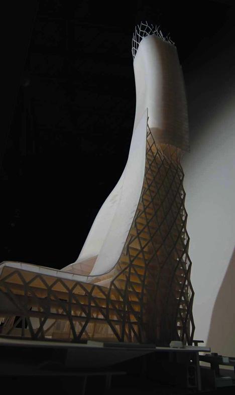 Morphosis show Paris tower images