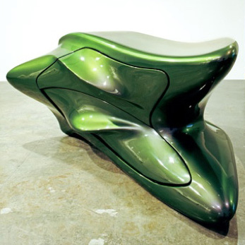 Zaha Hadid furniture exhibited in New York