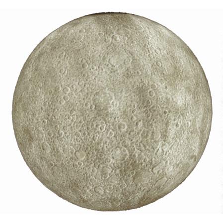 Astronaut designs moon-shaped lamp