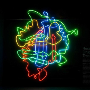 GTF unveil neon installation