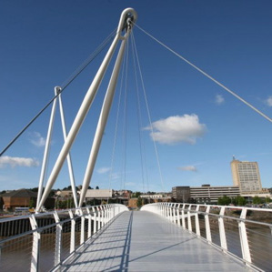Grimshaw footbridge opens in Newport