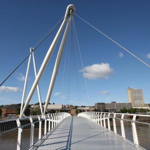 Grimshaw footbridge opens in Newport