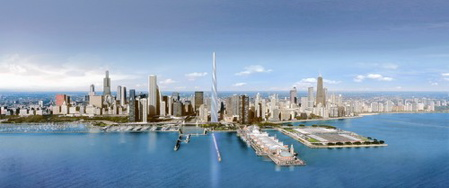 Santiago Calatrava designs for the Chicago Spire