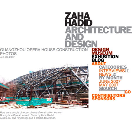 Dezeen launches Zaha Hadid blog