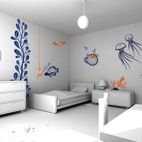 dezeen_e-glue vinyl wall decorations for children_1