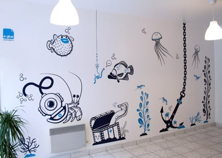 e-glue vinyl wall decorations for children - Dezeen