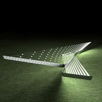 Fade chandelier by Zaha Hadid for Swarovski