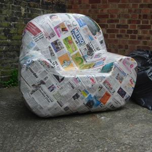 Paper Mache Armchair by Majid Asif