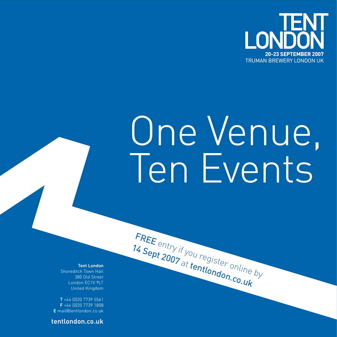 Register now for free entry to Tent London