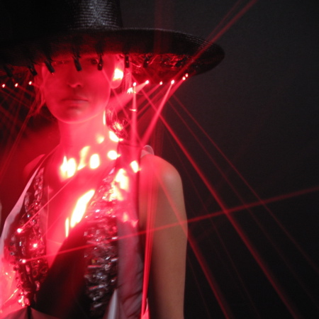 Moritz Waldemeyer puts laser beams in Hussein Chalayan dresses