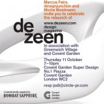 Dezeen relaunch party at Covent Garden Super Design