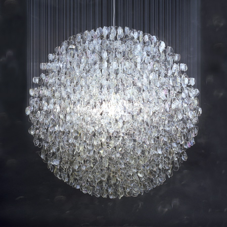 Optical chandelier by Stuart Haygarth