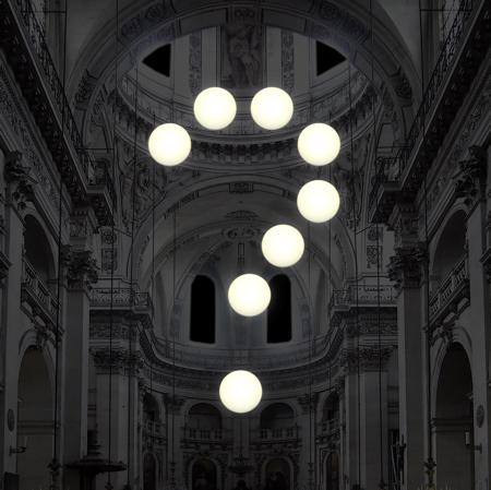 Lighting installation by Robert Stadler during Nuit Blanche in Paris