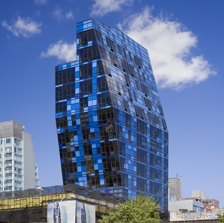 Bernard Tschumi's Blue tower opens
