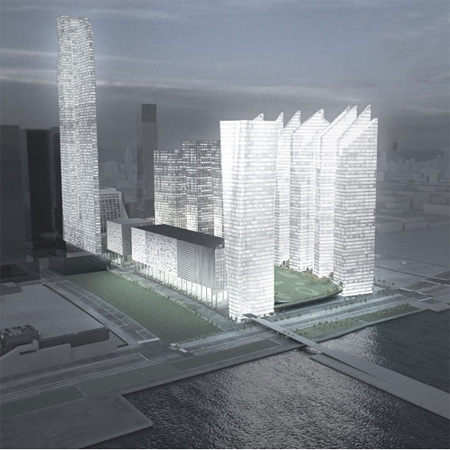 Hudson Yards masterplan by Steven Holl