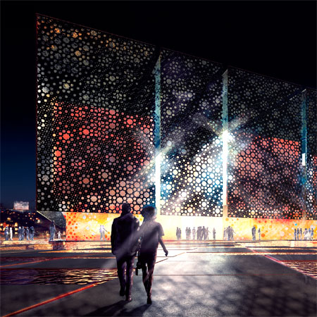 United Arab Emirates pavilion for Shanghai Expo 2010 by Foster + Partners