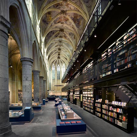 A shop in a church by Merkx + Girod Architecten