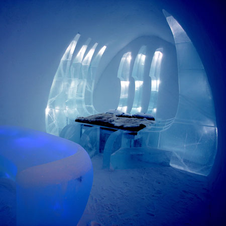 Ben Rousseau at the Ice Hotel