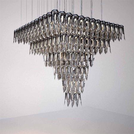 LQ chandeliers by Hani Rashid for Zumtobel