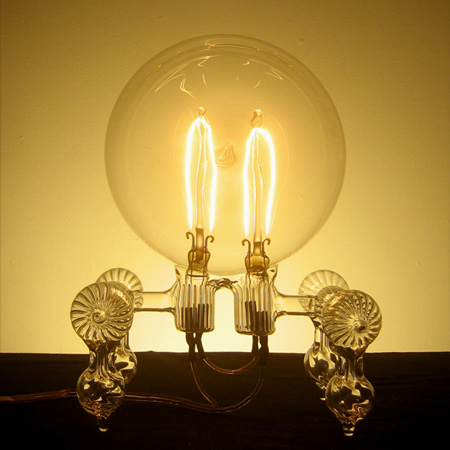 Hand-blown light bulbs by Dylan Kehde Roelofs