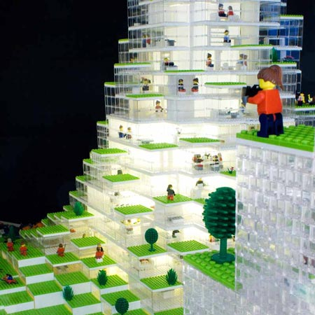 LEGO towers by Bjarke Ingels Group.  1.