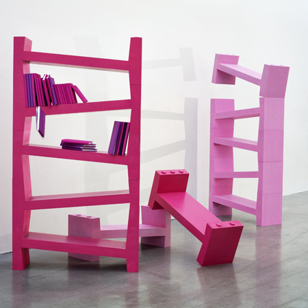 Skew bookcase by Smånsk