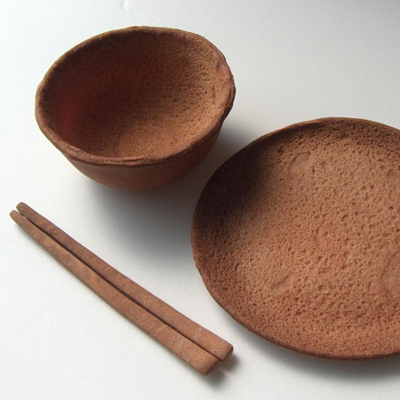 Edible tableware by Rice-Design