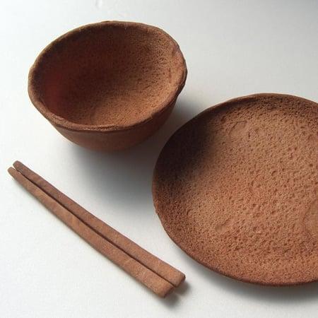Edible tableware by Rice-Design