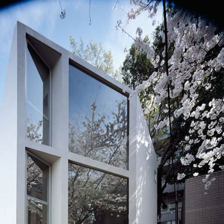 63.02° house by Schemata Architecture Office (with cherry blossom)