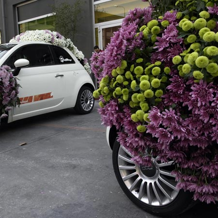 Flower Cars in Milan