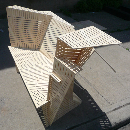 Porosity Bench by Steven Holl Architects