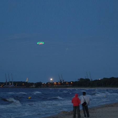 UFO over Gdansk by Peter Coffin and Cinimod Studio