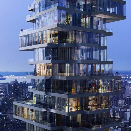 56 leonard street by herzog de meuron dezeen for Top residential architects nyc