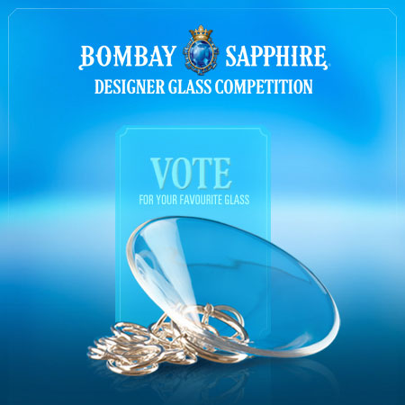 Vote for your favourite Bombay Sapphire martini glass design