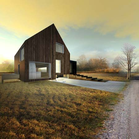 Wooden house by Ondrej and Josef Chybik