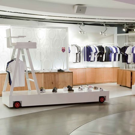 K-Swiss pop-up store by UXUS Design