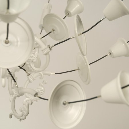 Exploded chandeliers by Ward van Gemert