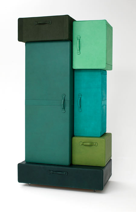 a pile of suitcases by maarten de ceulaer dezeen. Black Bedroom Furniture Sets. Home Design Ideas