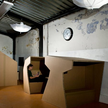 Cardboard office by Paul Coudamy