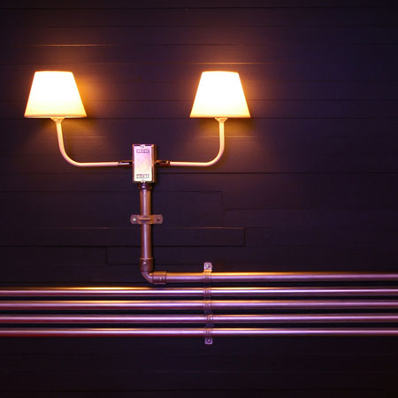 Pipe Light is an installation on an abandoned house in São Paulo, Brazil by French-Brazilian architects Triptyque