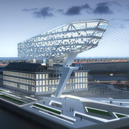 Home Architecture Design on Port House Antwerp By Zaha Hadid Architects Sqwu 2port House Antwerp