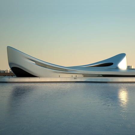Regium waterfront by zaha hadid architects dezeen for Architecture zaha hadid