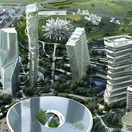 Huaxi city centre by MAD and others