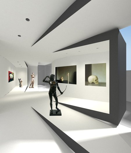 Exhibition Stand Interiors : Art fund pavilion shortlist dezeen