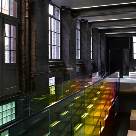 Kvadrat showroom by Peter Saville and David Adjaye
