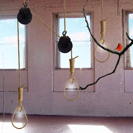 Noose light by Ana-Maria Pasescu Stewart