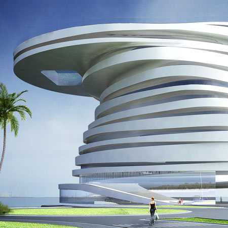 Helix hotel by leeser architecture dezeen for Architectural design companies in abu dhabi