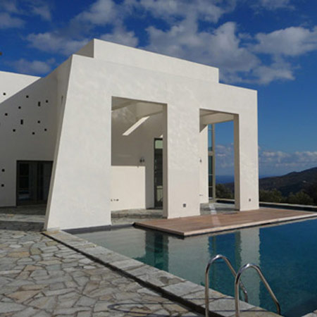 House in Andros by KLab architects
