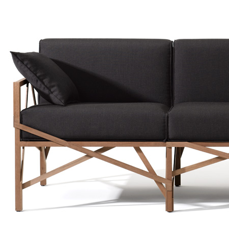 Allumette sofa by Röthlisberger